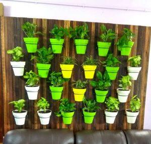 Planting Pot Wall Pattern