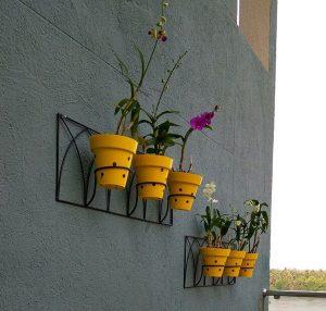 Yellow Wall Planting Pots